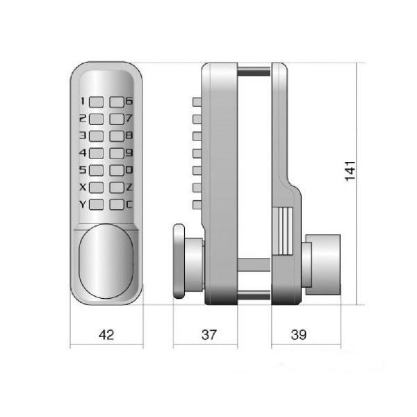 verrou code m canique jokey 500 cl d 39 or vente de coffres forts. Black Bedroom Furniture Sets. Home Design Ideas